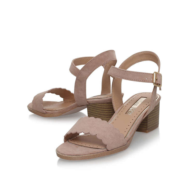 3e14e666433 Rosie Nude Block Heeled Sandals By Miss KG
