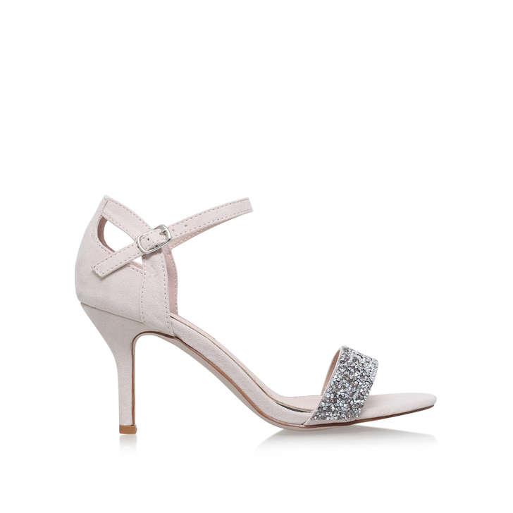 078daa64aac Iris Nude Mid Heel Sandals By Miss KG