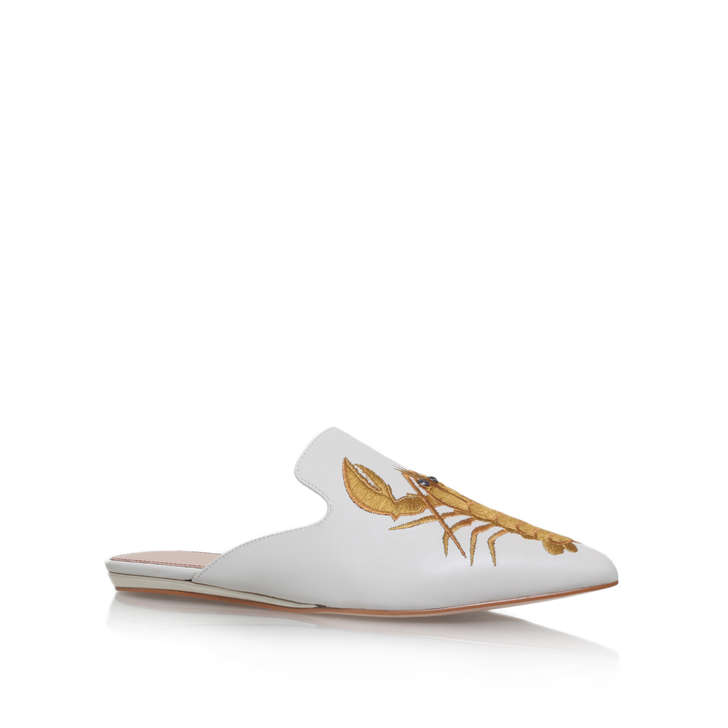 Kurt Geiger Otter - white flat slip on mules Free Shipping For Sale Cheap Sale Discount rtZZTH7WGp
