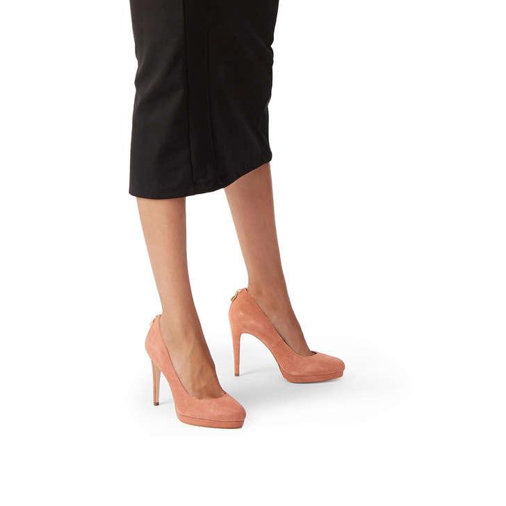 85f80b94e53b7 Antoinette Pump Rust Suede High Heel Court Shoes By Michael Michael ...