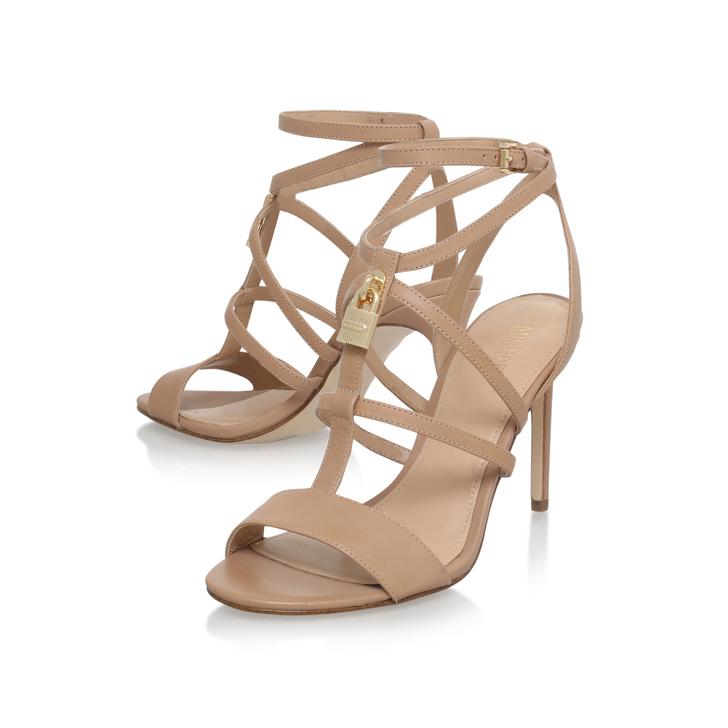 68dd03261e1a Antoinette Sandal Tan Mid Heel Sandals By Michael Michael Kors ...