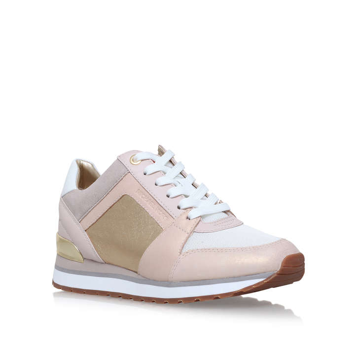 87d86a77bc0 Billie Trainer Pink Low Top Trainers By Michael Michael Kors | Kurt Geiger