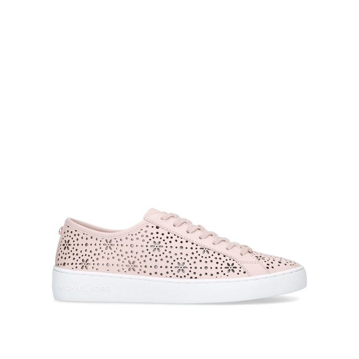 0439550e582 Keaton Lace Up Pink Low Top Trainers By Michael Michael Kors | Kurt Geiger