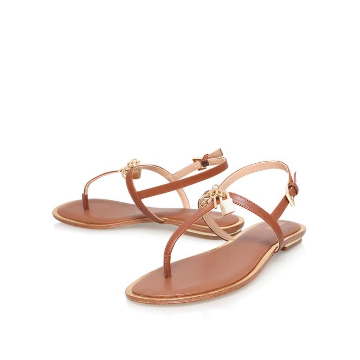 7393e8346fb Suki Thong Tan Flat Sandals By Michael Michael Kors