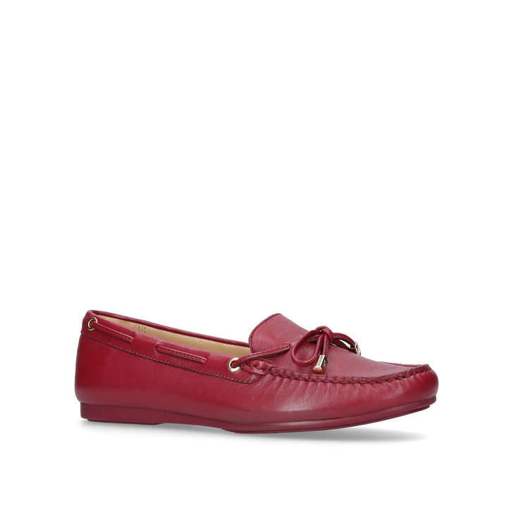 Sutton Moc Red Flat Loafer Shoes By Michael Michael Kors