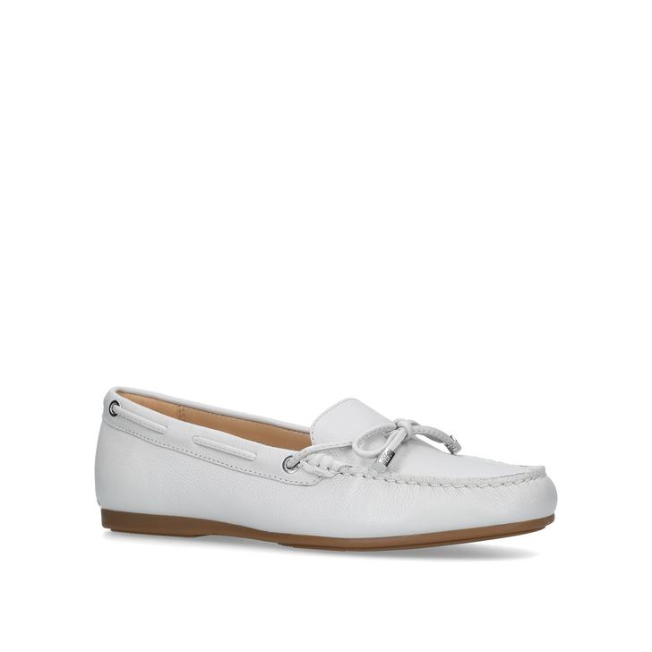 02e316aeece3d Sutton Moc Metallic Silver Loafers By Michael Michael Kors