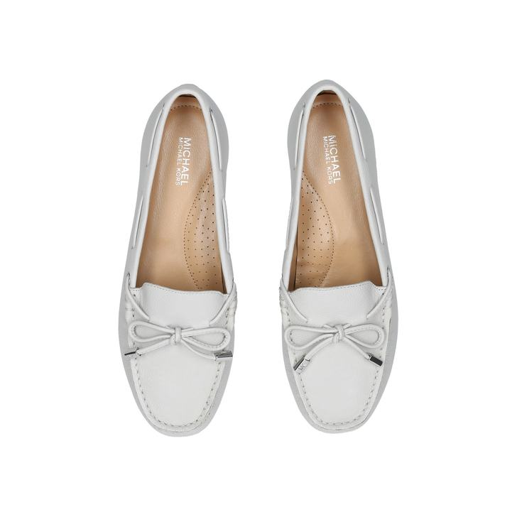 Sutton Moc Metallic Silver Loafers By
