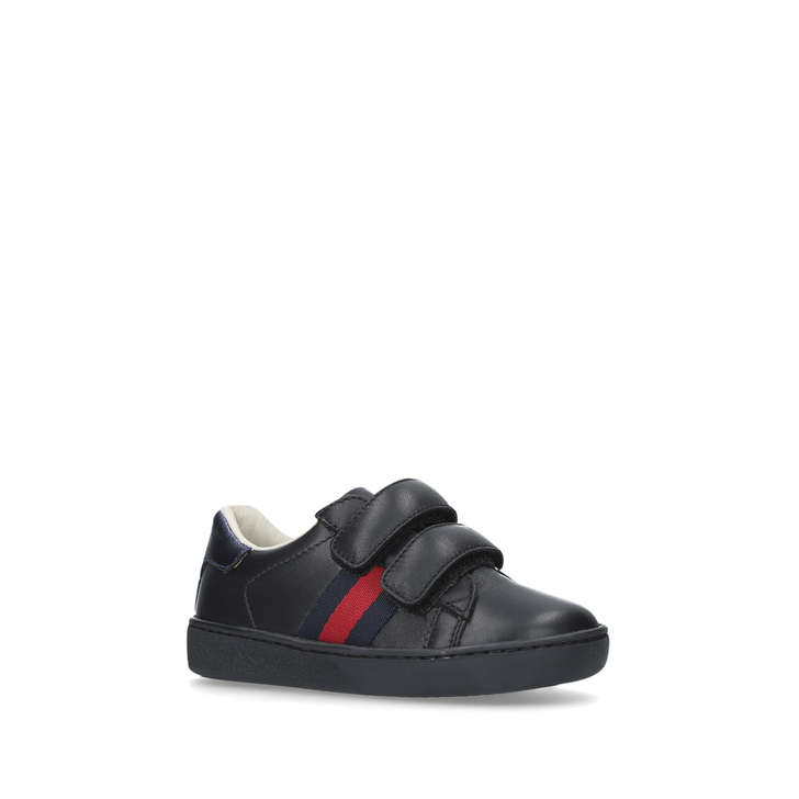16afcb68b26 New Ace Vl Toddler Black Riptape Trainers By Gucci