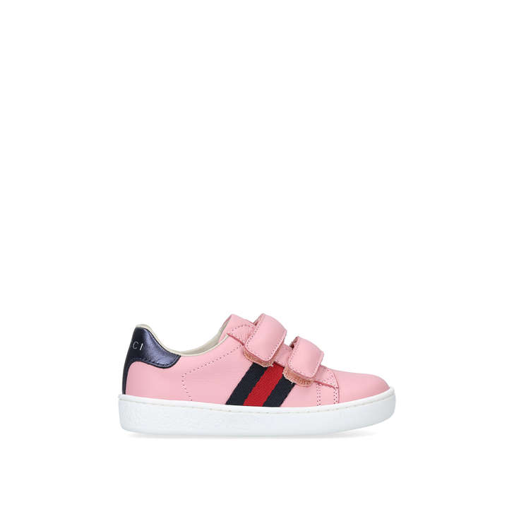 5929bb5b8a9 New Ace Vl Toddler Pink Riptape Trainers By Gucci
