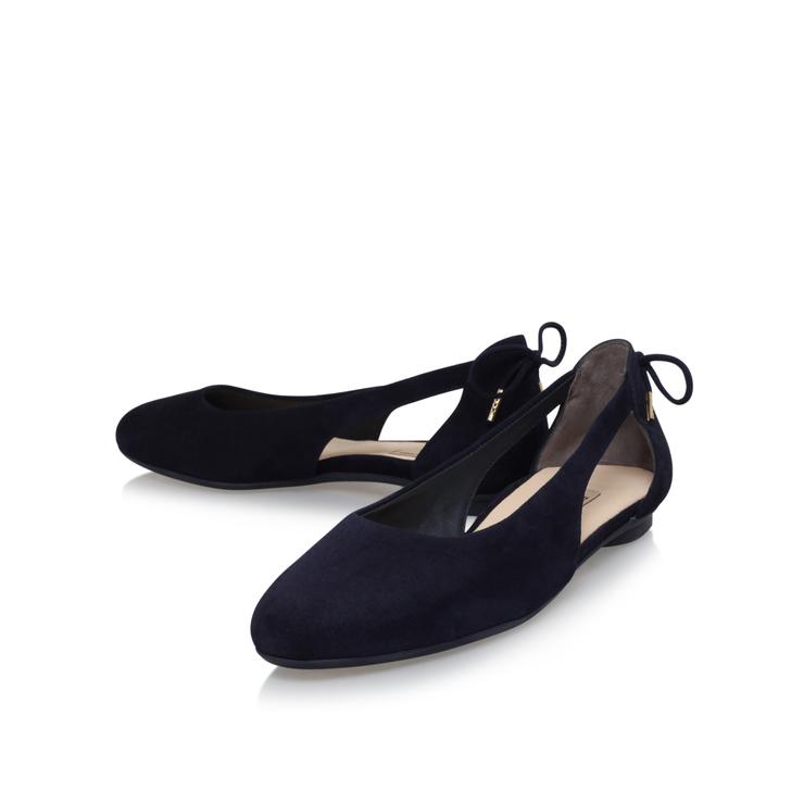 yasmin black flat ballerina shoe by paul green kurt geiger. Black Bedroom Furniture Sets. Home Design Ideas