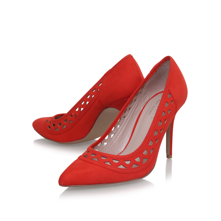 7fe81d8fec35 Look Orange Mid Heel Court Shoes By Carvela