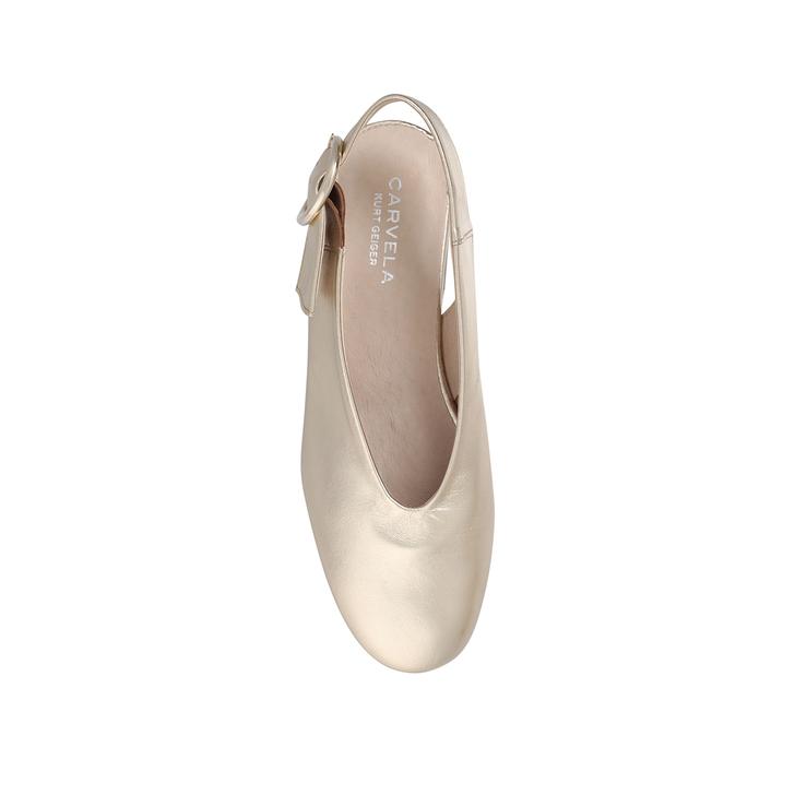 f358625004d Luna Gold Flat Slip On Shoes By Carvela
