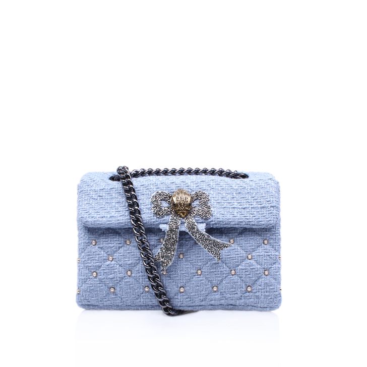 sleek buying cheap buy best Tweed Kensington Bag Blue Shoulder Bag By Kurt Geiger London ...