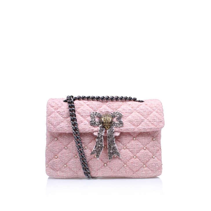 Tweed Kensington Bag Pink Shoulder Bags By Kurt Geiger London