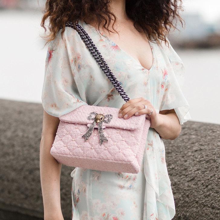 Tweed Kensington Bag Pink Shoulder Bags