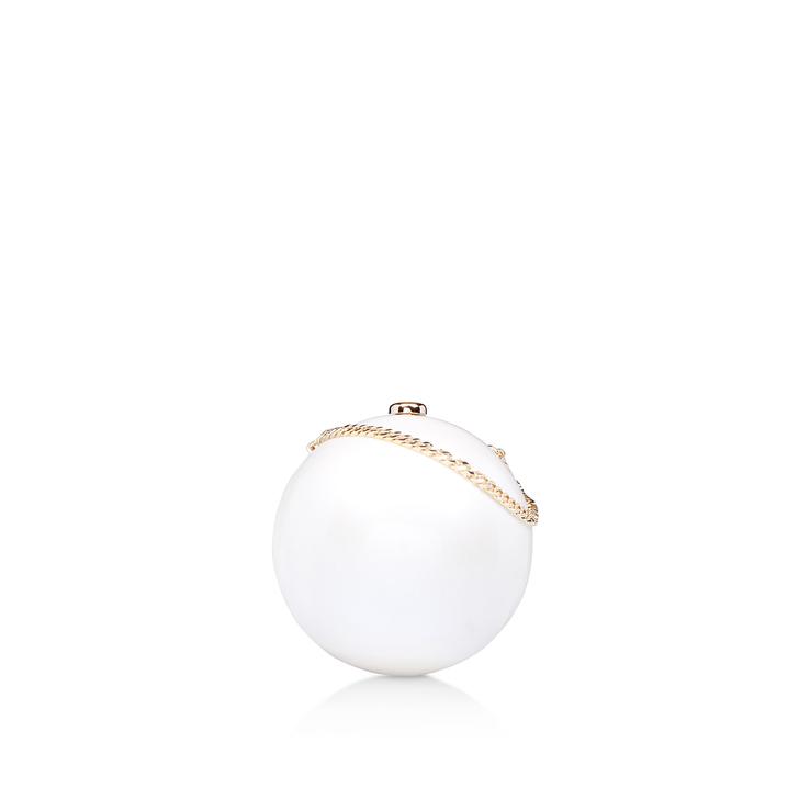 Pearl Clutch White Clutch Bag By Kurt Geiger London