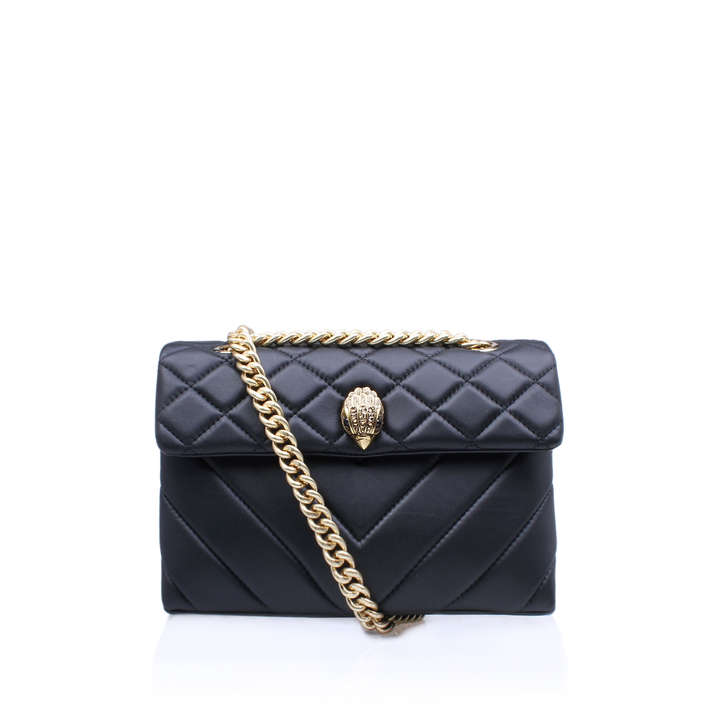 dfd3f9caba Leather Kensington Bag Black Shoulder Bag By Kurt Geiger London ...