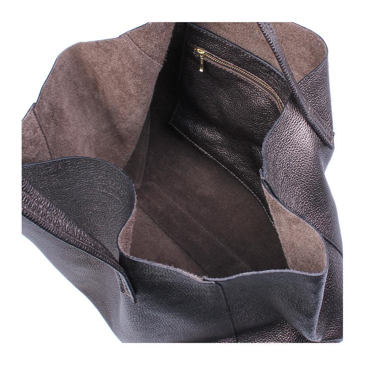Violet Horizontal Tote Gunmetal Tote Bag By Kurt Geiger