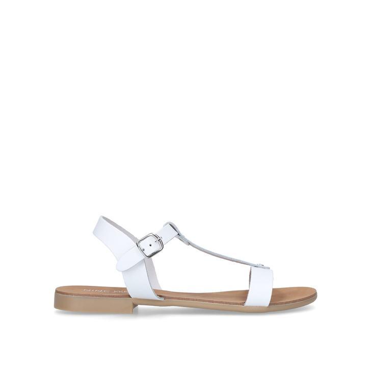 buy cheap huge surprise White 'Felix' flat sandals cheap sale original amazing price cheap sale fake CZBdw