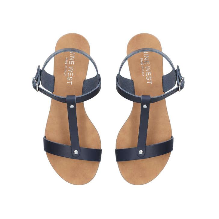 24c3ce783 Felix Blue Flat Sandals By Nine West | Kurt Geiger