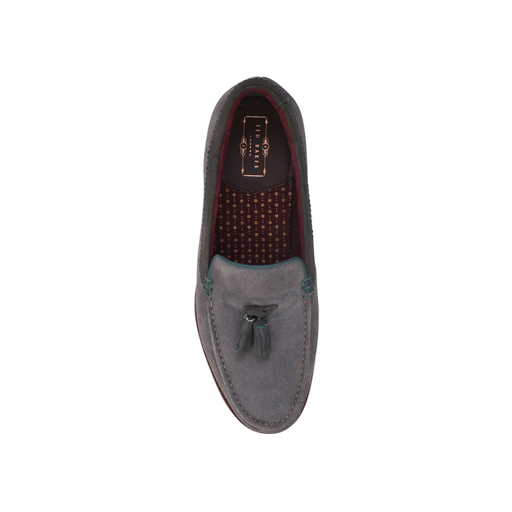 daf2b1a67e1 Dougge Tassel Loafer Grey Loafer Shoes By Ted Baker