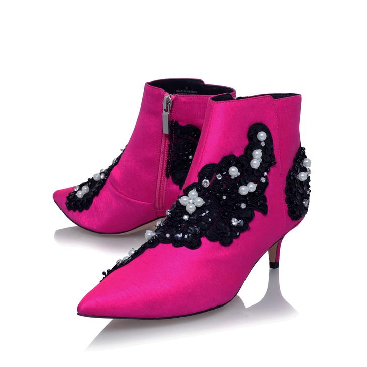High Quality Sale Online Kurt Geiger Rokka - pink mid heel ankle boots Wiki Sale Online ftRVUPImN7