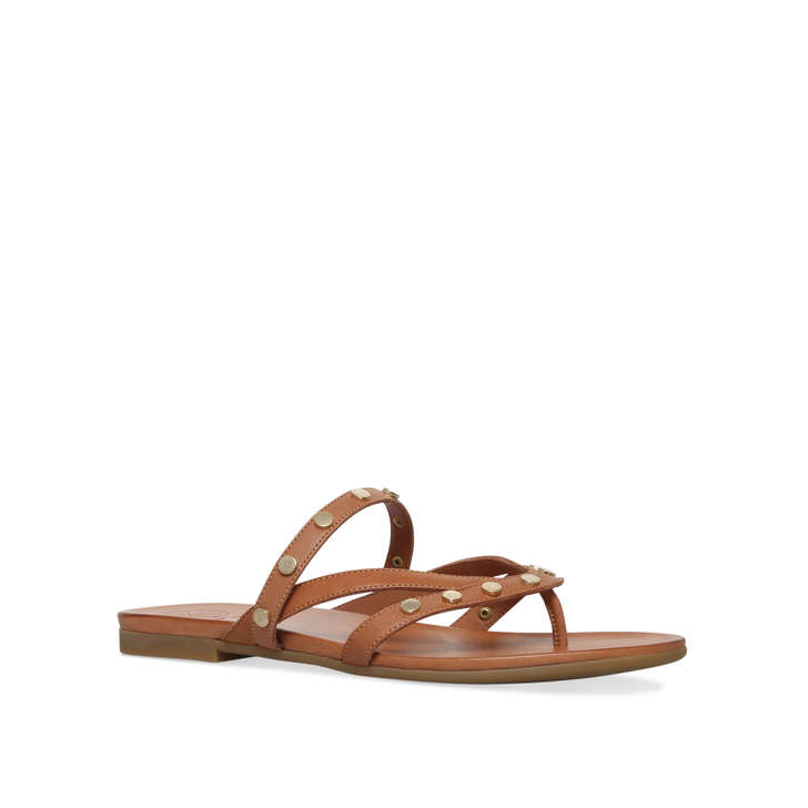 discount 100% authentic Tan 'Modena' flat sandals cheap price for sale uJ0sKJv0QU