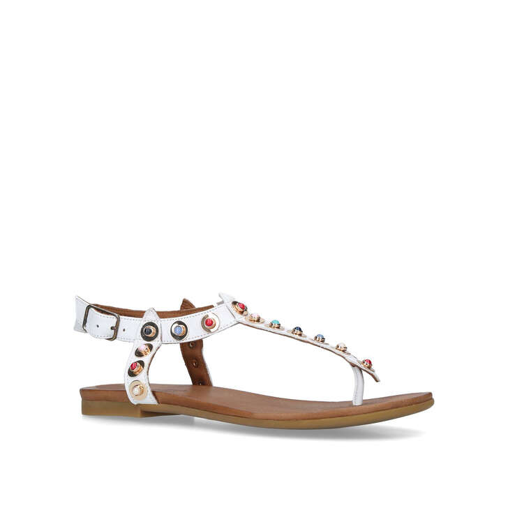 White 'Kankan' flat sandals clearance amazing price clearance classic free shipping 2014 newest factory outlet online UhopkdX