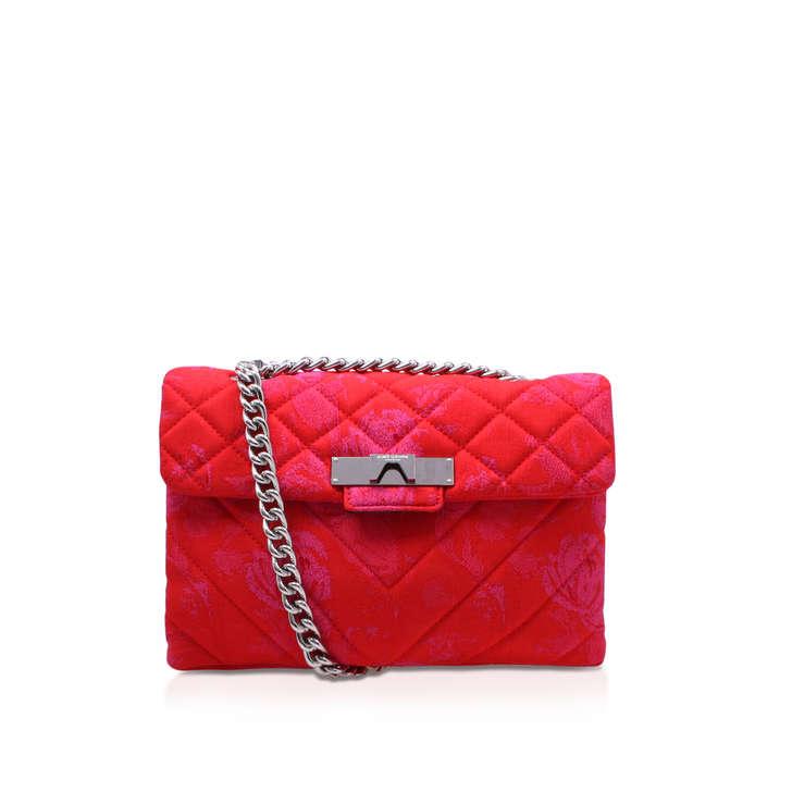Fabric Kensington Bag Red Shoulder Bag By Kurt Geiger