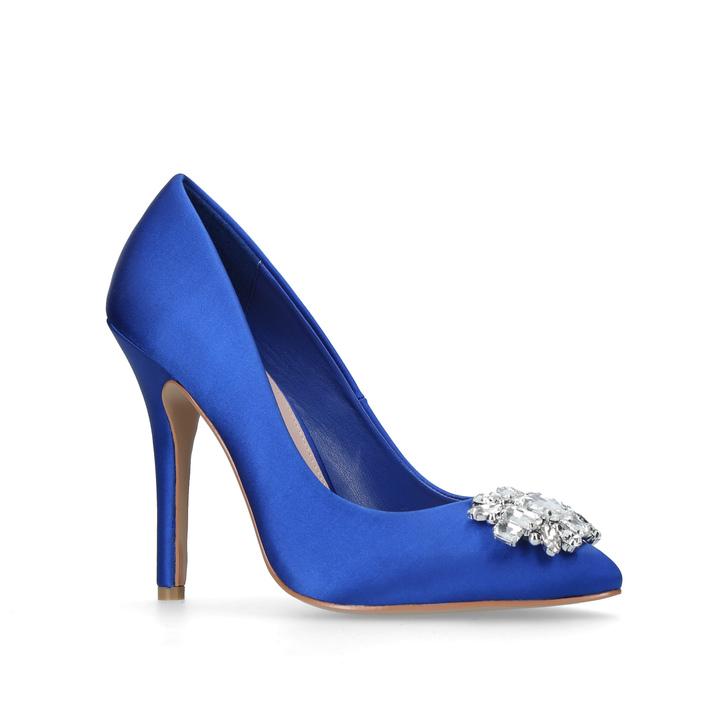 7aea2bd4de5a3 Kollette Blue High Heel Court Shoes By Carvela