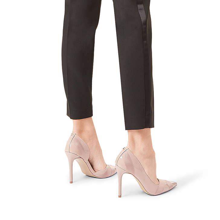 828492fb3cb Lark Nude Patent Stiletto Heel Court Shoes By Carvela | Kurt Geiger