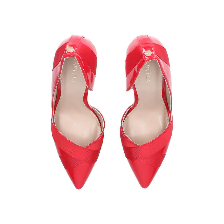 923c9106962 Lark Red Stiletto Heeled Court Shoes By Carvela | Kurt Geiger