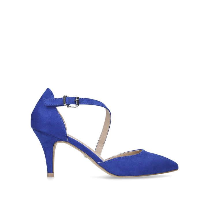 e1fd65e7d2c9 Kite Blue Mid Heel Court Shoes By Carvela Kurt Geiger