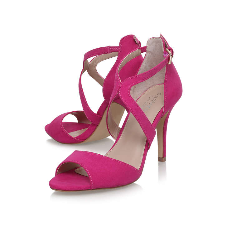 Jett Pink Mid Heel Sandals By Carvela Kurt Geiger | Kurt Geiger