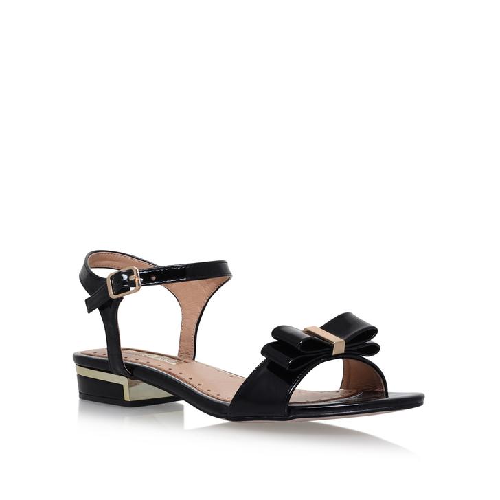Ruby Black Low Heel Sandals By Miss Kg Kurt Geiger