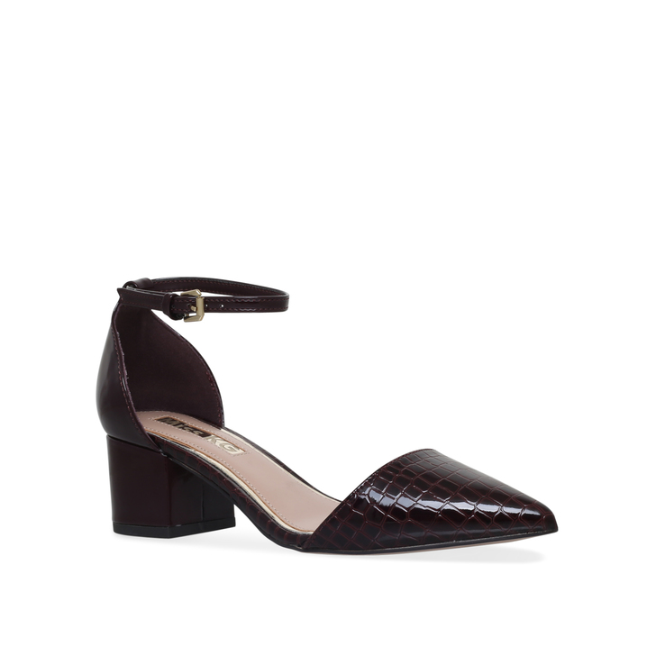 1cd7a000d86 Carla Wine Mid Heel Court Shoes By Miss KG