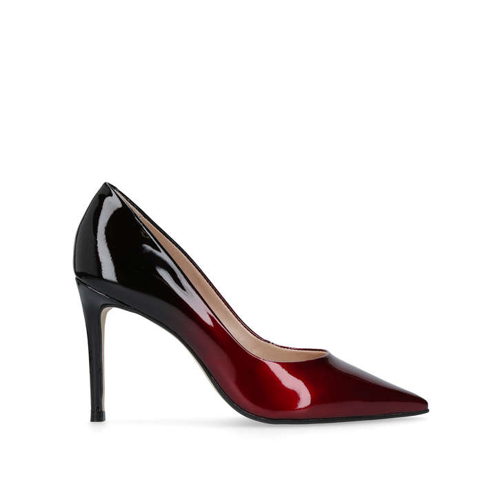 Wine CARVELA Alison patent leather ombr courts