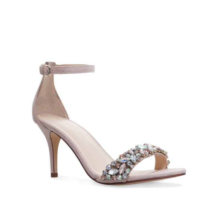 Innocent Pink Mid Heel Sandals By Nine West Kurt Geiger