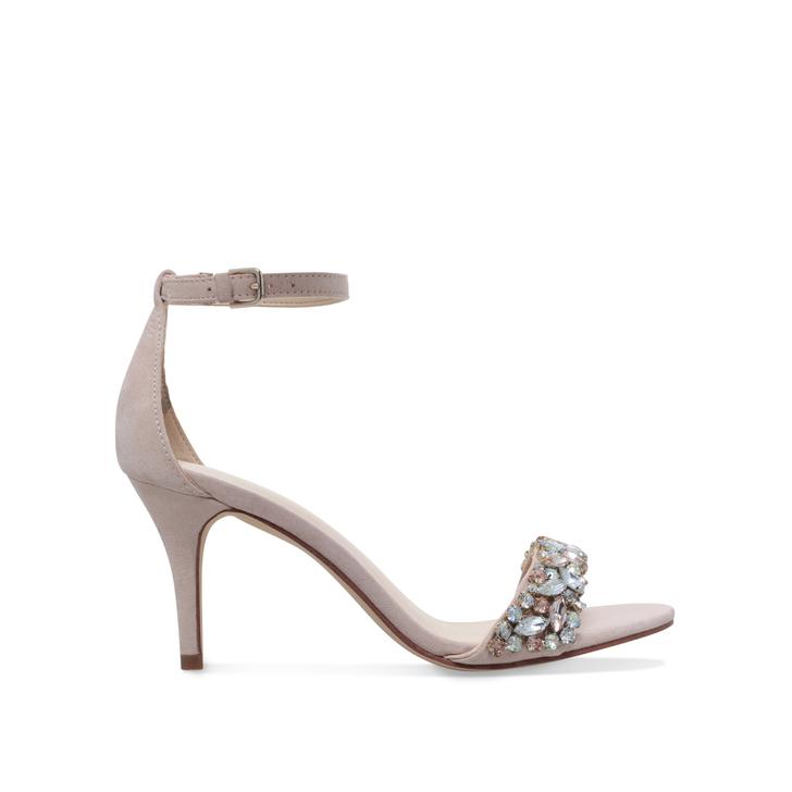 cade3298139 Innocent Pink Mid Heel Sandals By Nine West