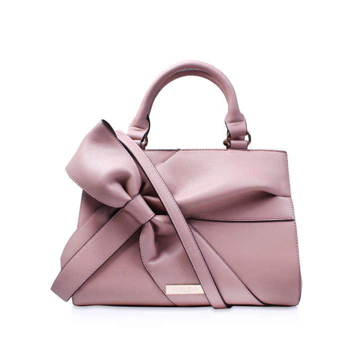 Rhian Bow Tote Pink Tote Bag By Carvela Kurt Geiger