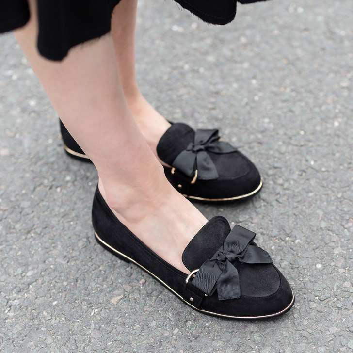 Mable Black Flat Loafers By Miss KG 26GFSHWb