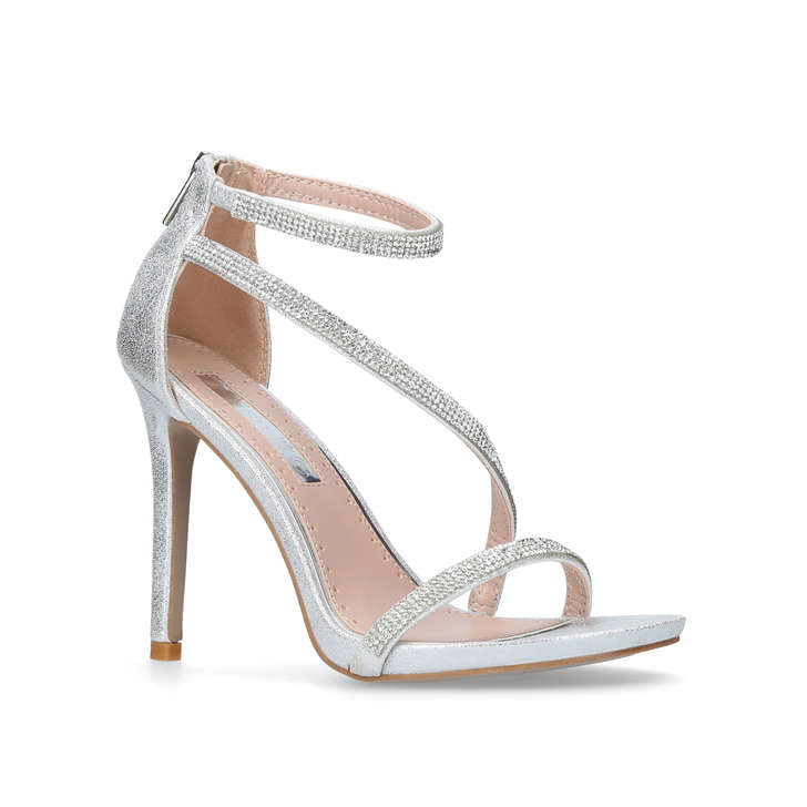 Dutchess Silver High Heel Sandals By Miss KG | Kurt Geiger