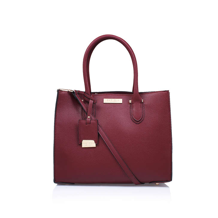 Robyn Structured Tote Red Tote Bag By Carvela Kurt Geiger | Kurt ...