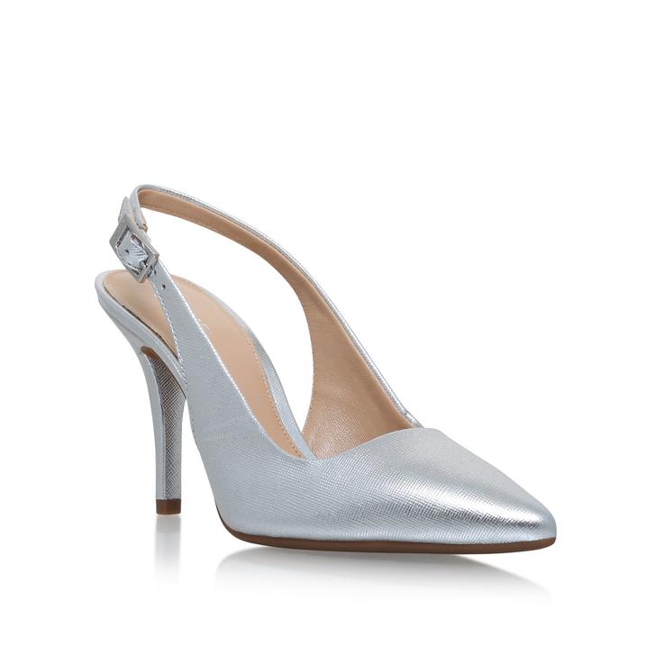 Mk-flex Sling Silver Mid Heel Court