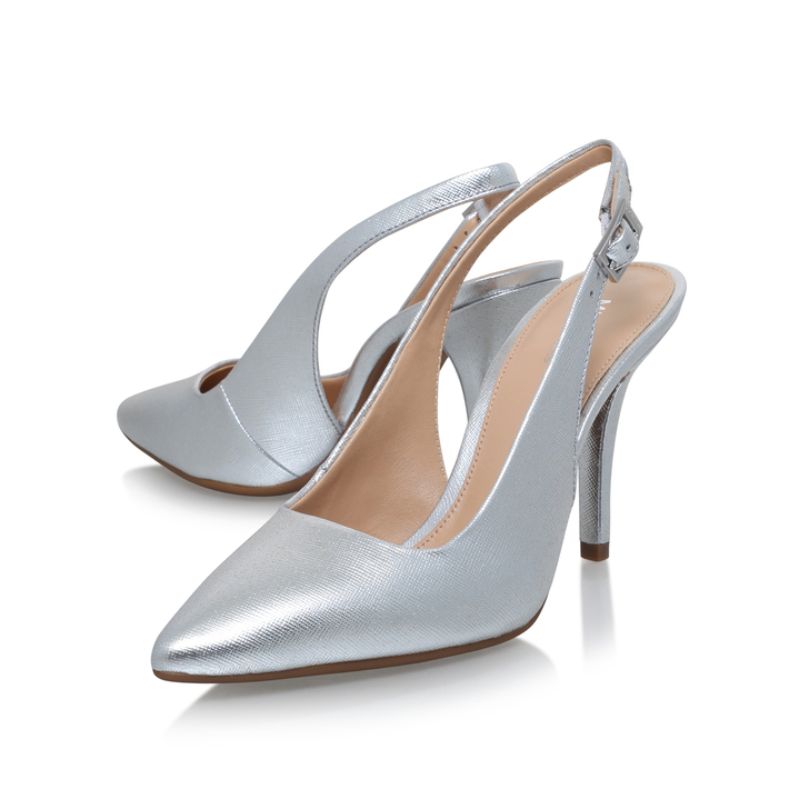 Mkflex Sling White Mid Heel Court Shoe By Michael Michael Kors Qou1jJFO