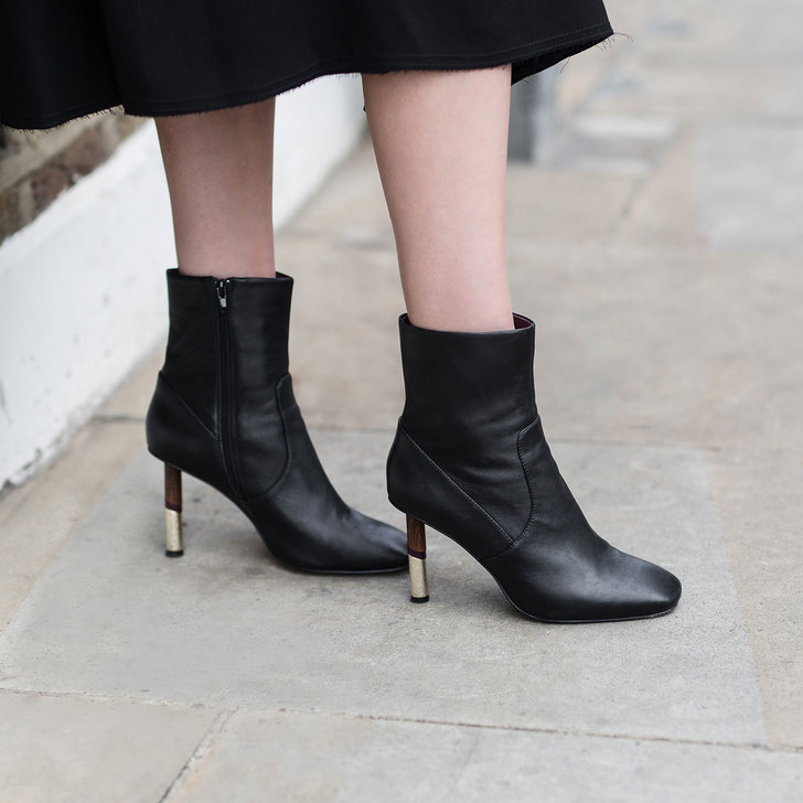 Raven Black Mid Heel Ankle Boots By KG