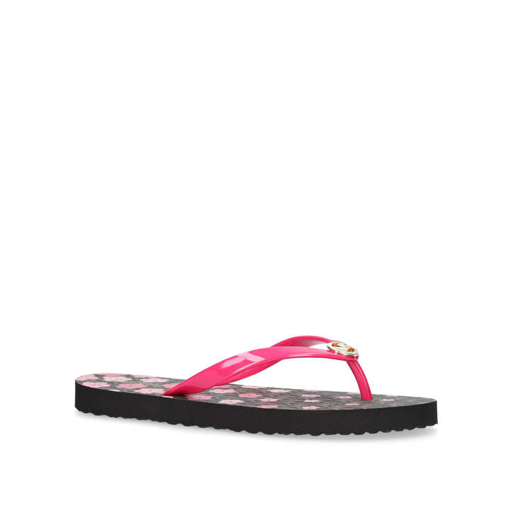 2e26007ba Mk Flip Flop Stripe Eva Pink Flip Flops By Michael Michael Kors ...