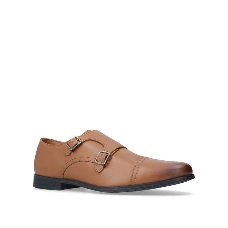 Kg Par Kurt Geiger Chaussures Double Moine En Tan - Tan ZYHL3gAb