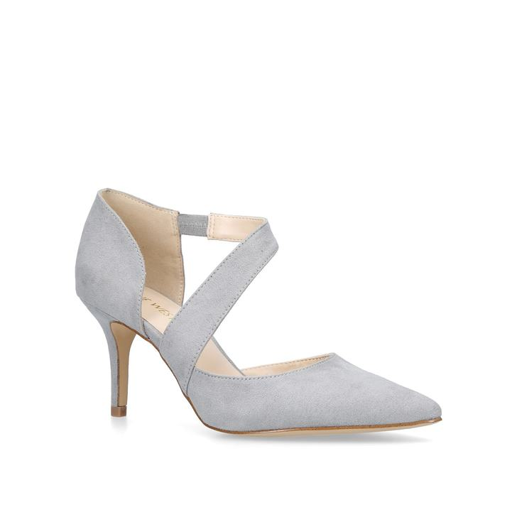 9c55def5a9e Kremi Grey Low Heel Sandals By Nine West