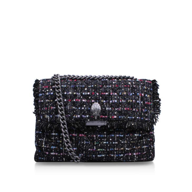 Tweed Lg Kensington Bag Black Shoulder Bag By Kurt Geiger